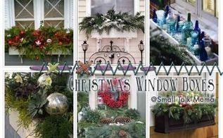 saturday sparks christmas window boxes, christmas decorations, seasonal holiday decor, windows