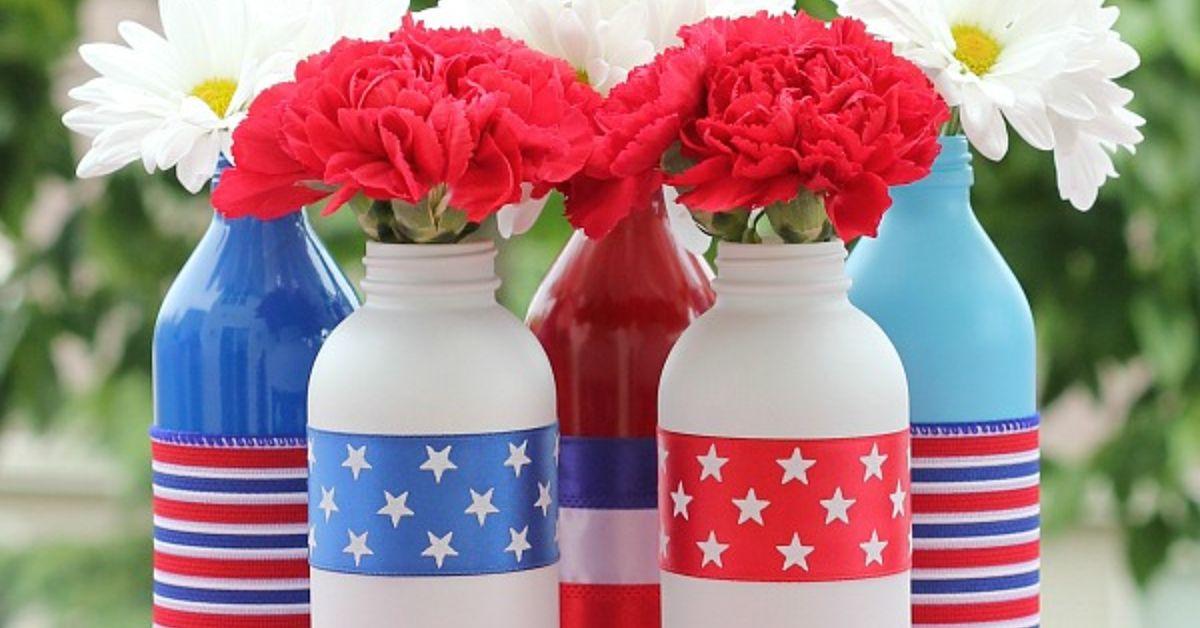 Patriotic Painted Glass Bottles Hometalk