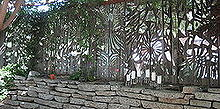 our mirror mosaic fence we had a blast creating this amazing what can come from a, fences, ponds water features, repurposing upcycling, We used 6 large broken mirrors