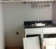 q basement bar overhaul, basement ideas, diy, home improvement, pallet, woodworking projects, Basement