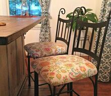 easy update for bar stools, painted furniture, shabby chic, After
