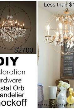 diy restoration hardware knock off orb chandelier, crafts, diy, home decor, how to, living room ideas