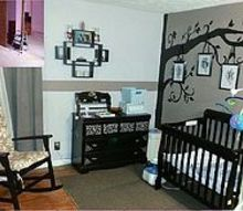 nursery room redo, bedroom ideas, diy, home decor, painting, The before and after