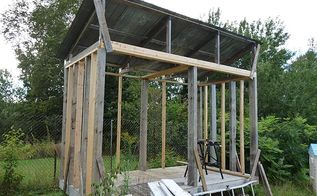 wood shed or firewood shed to store and dry firewood building idea, diy, outdoor living, storage ideas, woodworking projects, My Wood Shed to store my firewood Building instructions