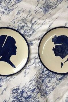creating decorative plates with stencils, home decor, painting