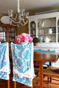 easy to make dining room chair back runners, crafts, home decor, Dining Room Decorating Chair Back Runners