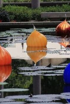 st louis mo garden globes, gardening, Floating glass globes