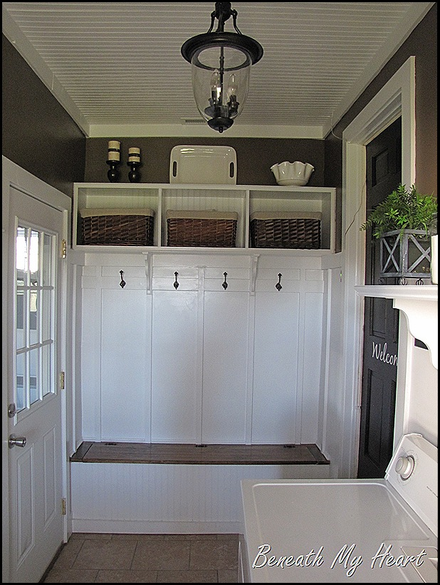 Adding a mudroom to our garage hometalk for Garage mudroom