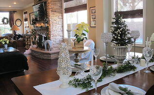 living room dressed for christmas, christmas decorations, seasonal holiday decor