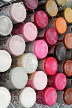 diy hanging craft paint storage, shelving ideas, storage ideas, See all your craft paints in a glance