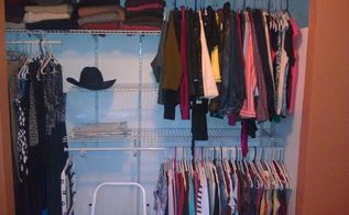 my master closet turns into her master closet, cleaning tips, closet, shelving ideas, Finally we marked with all shelves etc in place the holes for the vertical shelf brackets and attached them We put in the shelves and added a dash of good style