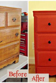 vintage dresser makeover, painted furniture, Vintage Dresser Before and After