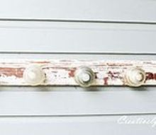 my latest insulator coat rack the shabby version, diy, painting, repurposing upcycling