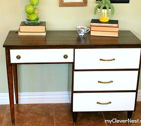 Mid Century Modern Desk Given New Life Painted Furniture Meet My Leggy Lady    Mid Century
