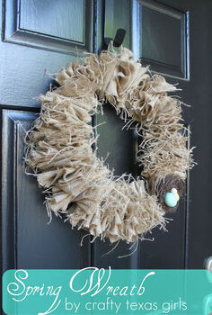 burlap wreath for spring, crafts, seasonal holiday decor, wreaths