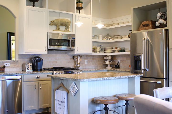 chalk painted kitchen cabinets amp cottage kitchen redo electrical home decor kitchen cabinets