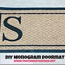 diy monogram doormat for a fraction of the cost of stores, crafts, home decor, outdoor living, Welcome people to your home with a personalized monogram doormat