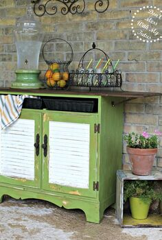10 diy transformations, painted furniture, Copycat Pottery Barn Buffet via Don t Mess with My Tutus