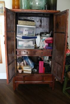 q mission organization will you join me in getting organized in 2013, organizing, storage ideas, Mission Organize this armoire to within an inch of it s life