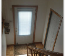 q need help on how to paint a raised ranch open floor plan, home decor, home maintenance repairs, how to, painting, Here is the entryway To your left is the living room