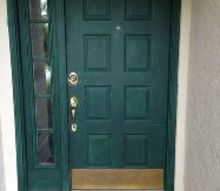 q front door makeover, curb appeal, diy, doors, how to, painting, The ugly front door