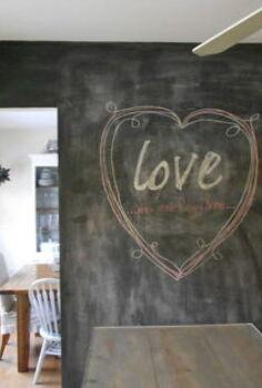 kitchen chalkboard wall, chalk paint, chalkboard paint, kitchen design, painting
