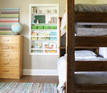 simple shared kids room, bedroom ideas, home decor, painted furniture, storage ideas