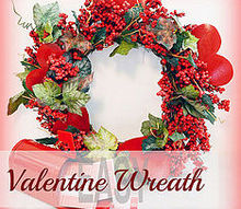 valentine s day wreath from supplies on hand, christmas decorations, seasonal holiday d cor, valentines day ideas, wreaths