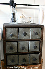 i repurposed this little storage cubby to use in my bathroom, bathroom ideas, repurposing upcycling, storage ideas, Best 9 drawers I ever had