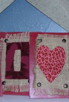 valentines love art from leftovers, crafts, seasonal holiday decor, valentines day ideas