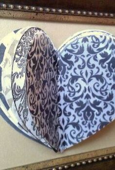 simple amp sweet 3d paper heart for valentine s day decor, seasonal holiday d cor, valentines day ideas