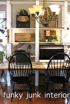 24 wow ideas from just a ladder, repurposing upcycling, An old painter s ladder is the main framework used for this desk So easy