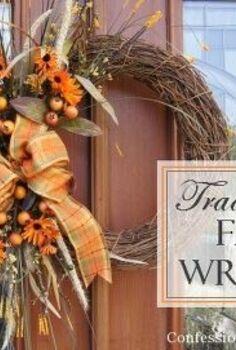 easy diy fall wreath, crafts, seasonal holiday decor, wreaths, Traditional Fall Wreath