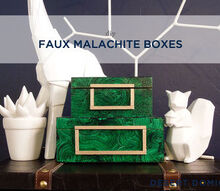 diy 8 faux malachite boxes, crafts, home decor, organizing, DIY Faux Malachite Boxes
