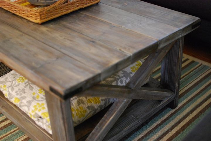 diy rustic coffee table, home decor, painted furniture, rustic furniture,  For the - DIY Rustic Coffee Table Hometalk
