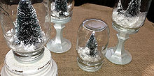 diy mason jar snow globes, crafts, mason jars