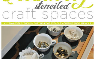 creatively stenciled craft spaces, painting