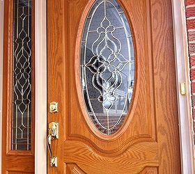 recently had a new fiberglass door installed by homedepot however doors window treatments