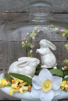 easter cloche, easter decorations, seasonal holiday d cor