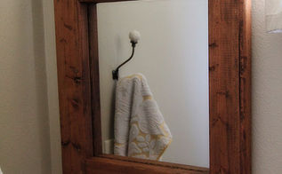 easy diy mirror redo, bathroom ideas, crafts, home decor, DIY Wood Mirror