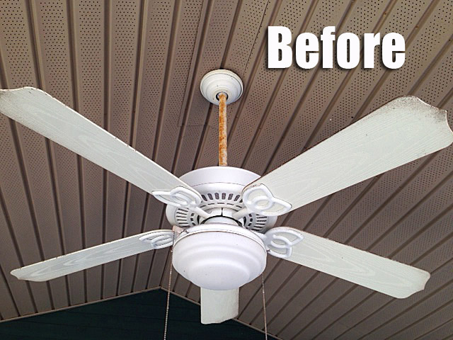 Paint Ceiling Fan : Thrifty diy outdoor fan makeover hometalk