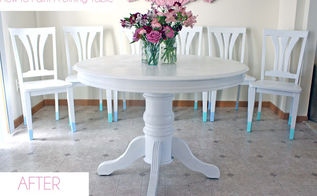 dining room table amp chairs makeover, painted furniture