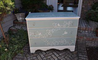 cottage chic birdie dresser, painted furniture, Just a fun little dresser
