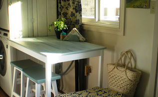 from coffee table to bar table in two easy steps, painted furniture, woodworking projects, New 36 tall bar table