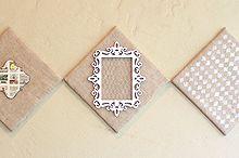 diy shabby chic burlap wall art, crafts, decoupage, home decor, shabby chic, wall decor