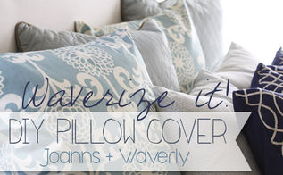 waverize it the easy diy pillow cover, reupholster