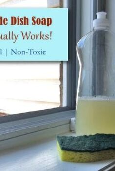 homemade natural dish soap, cleaning tips, go green