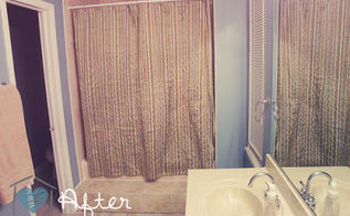 affordable master bath makeover, bathroom ideas, diy