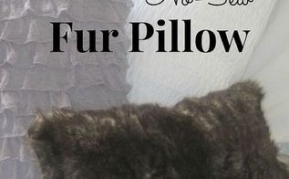 diy pottery barn inspired faux fur pillow no sew version, crafts