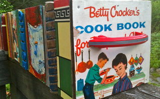 diy repurposed wooden boxes encore, home decor, repurposing upcycling, My childhood cookbook